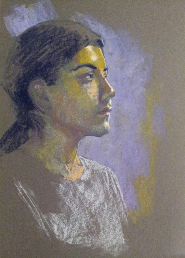 """Untitled portrait"" original fine art by Rita Kirkman"