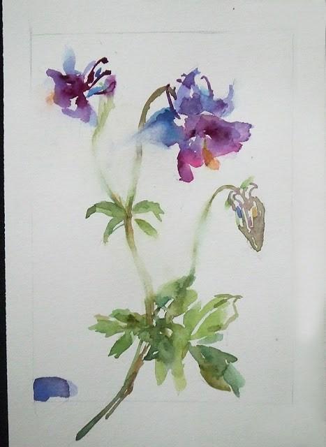 """""""in Progress 2"""" original fine art by Mitsuru Cope"""
