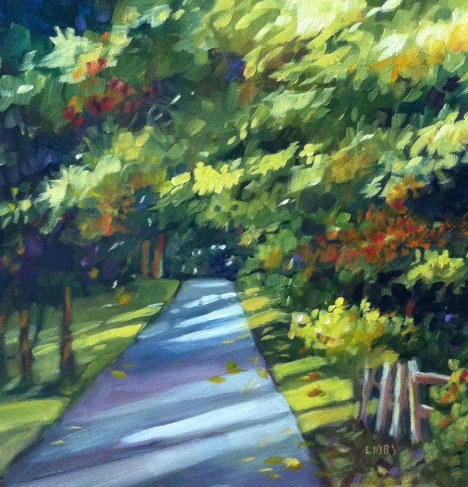 """""""Country Lane"""" original fine art by Libby Anderson"""