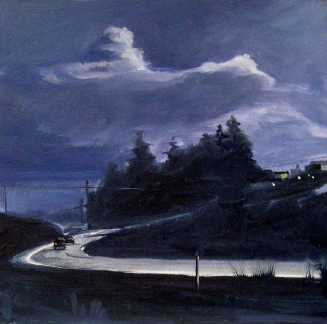"""""""Dark Zone  oil landscape painting, and Arts in the Woods"""" original fine art by Robin Weiss"""