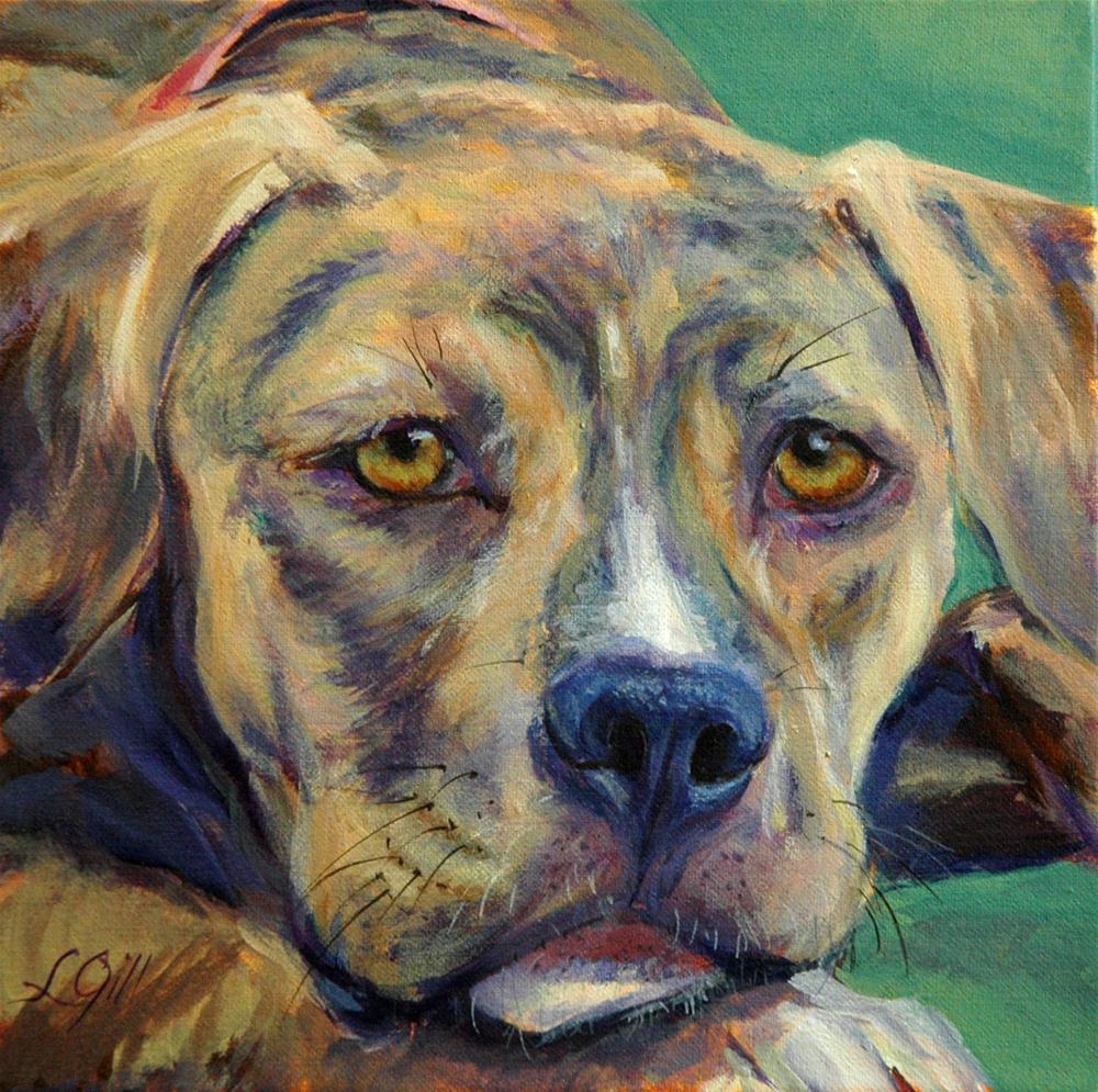 """""""Lulu"""" original fine art by Lyn Gill"""