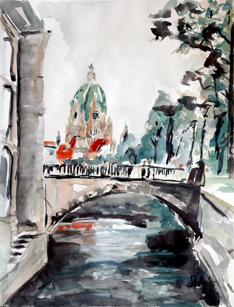 """""""1460 Little Venice"""" original fine art by Dietmar Stiller"""