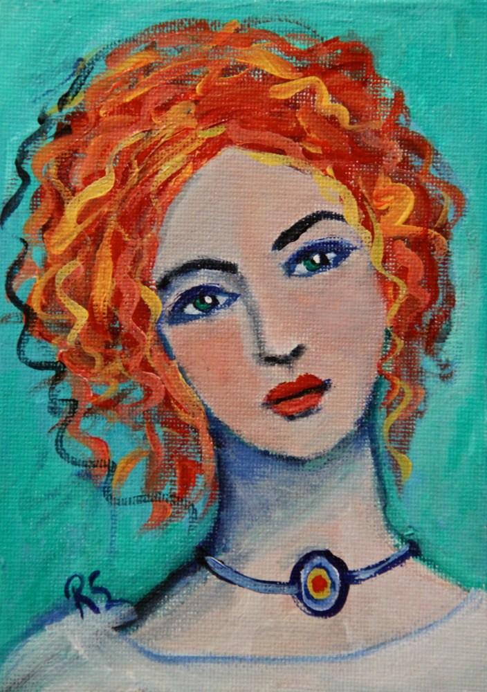 """""""Evangeline"""" original fine art by Roberta Schmidt"""