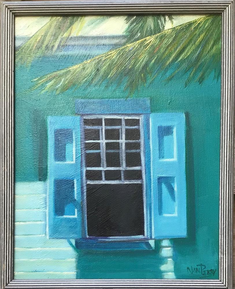 """Carribean Breeze"" original fine art by Nan Perry"