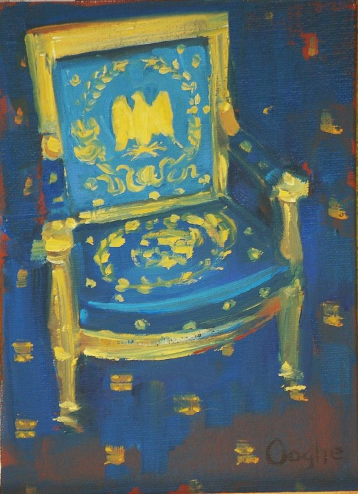 """White House Blue Room"" original fine art by Angela Ooghe"