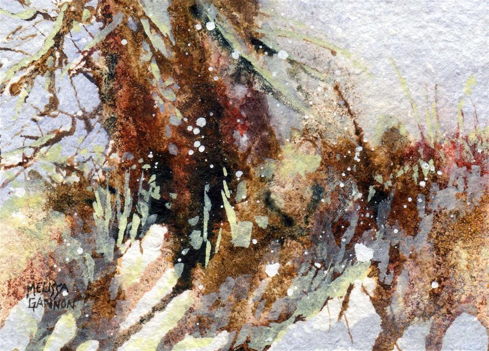 """Falling Snow"" original fine art by Melissa Gannon"