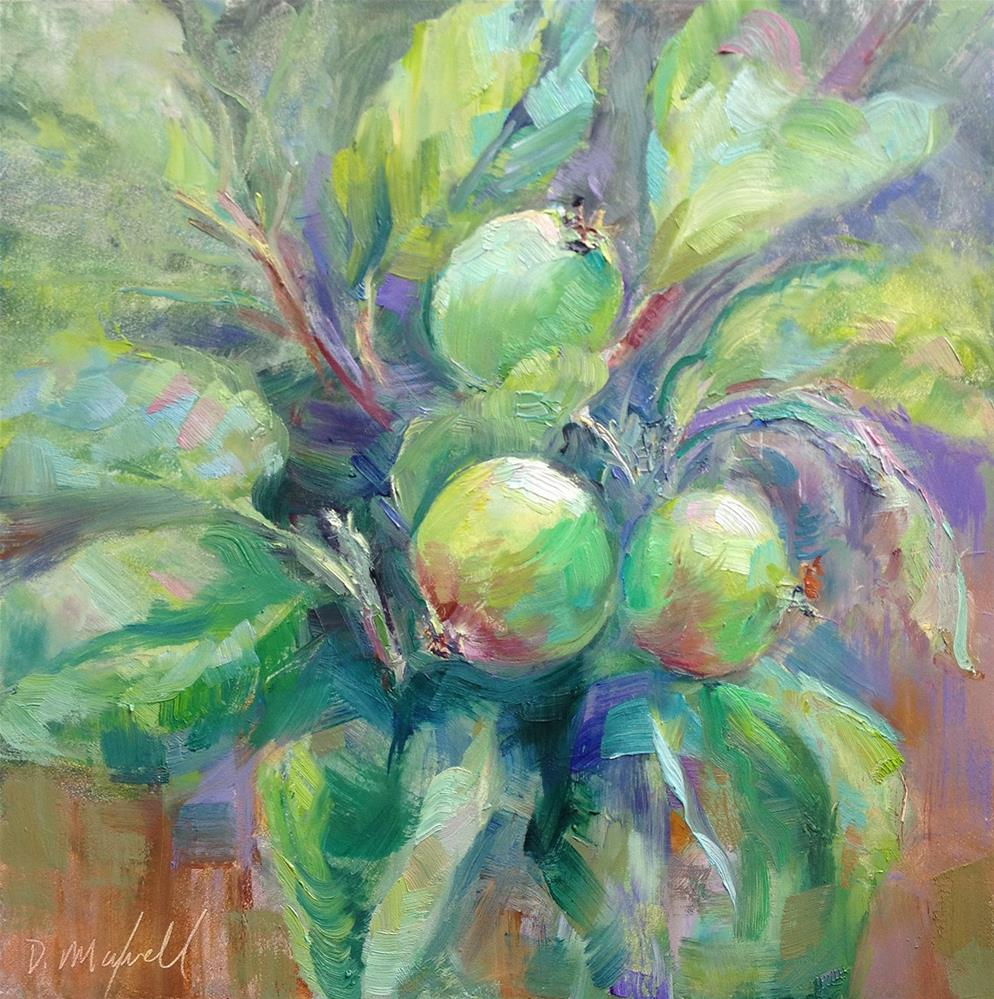 """New Green Apples"" original fine art by Denise Maxwell"