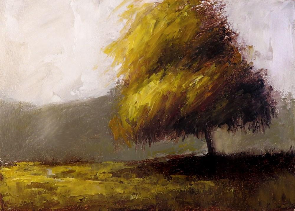 """Lonely Green Tree"" original fine art by Bob Kimball"