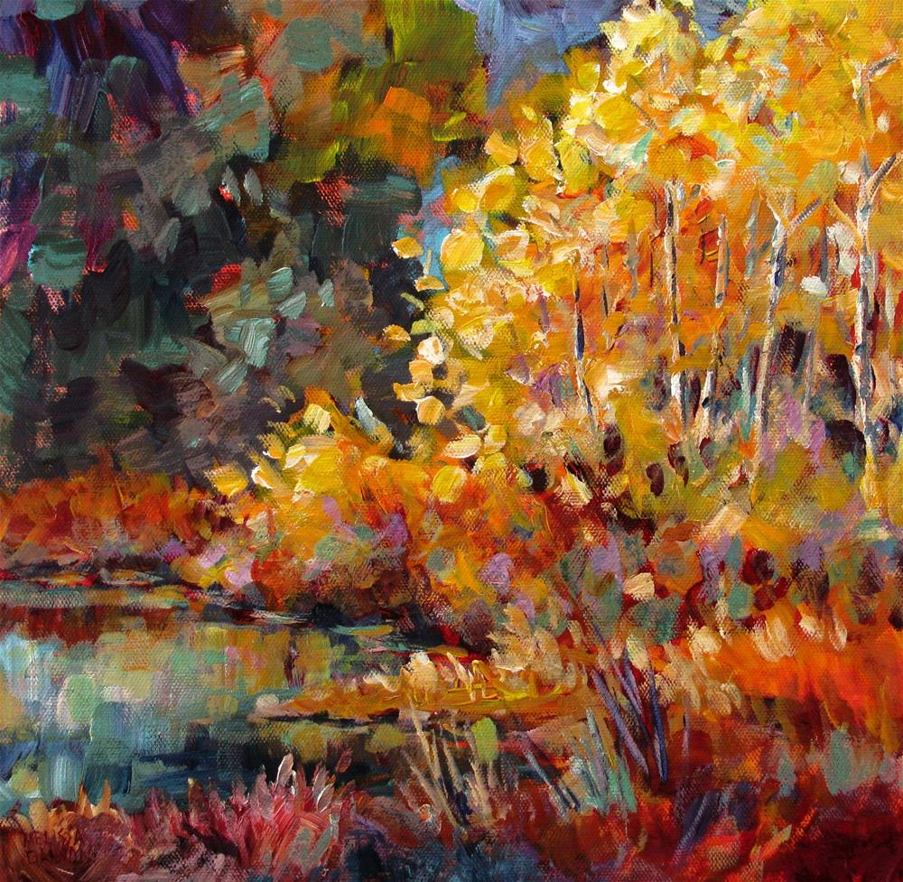 """""""Song of the Riverbank"""" original fine art by Melissa Gannon"""