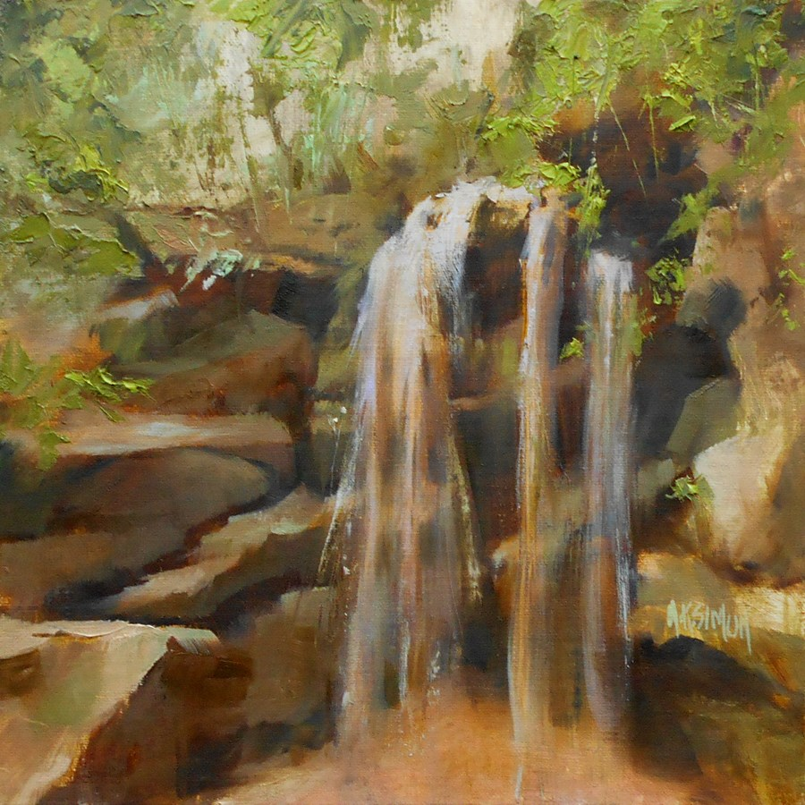 """A Touch of Nature"" original fine art by A.K. Simon"