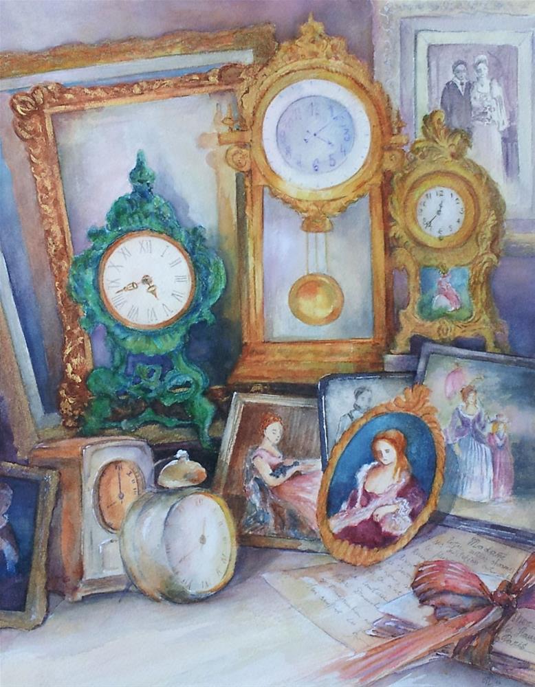"""In search of lost time"" original fine art by Olga Touboltseva-Lefort"