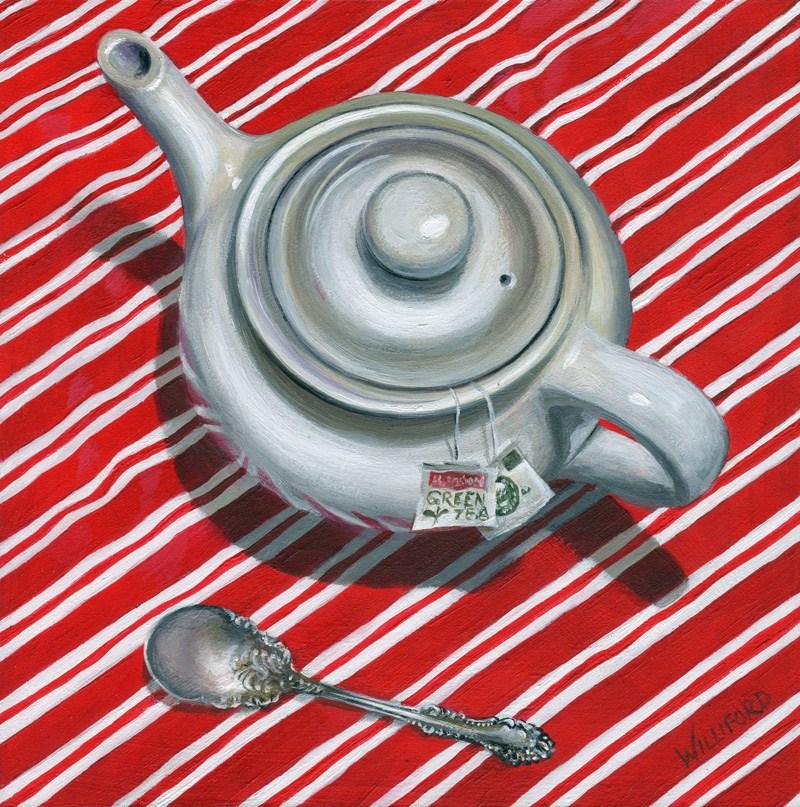 """Green Tea"" original fine art by Kathleen Williford"