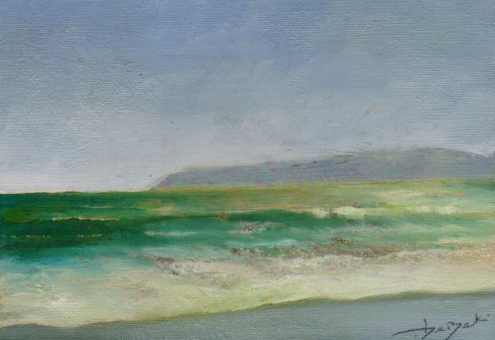 """cold ocean"" original fine art by Mark DeBak"