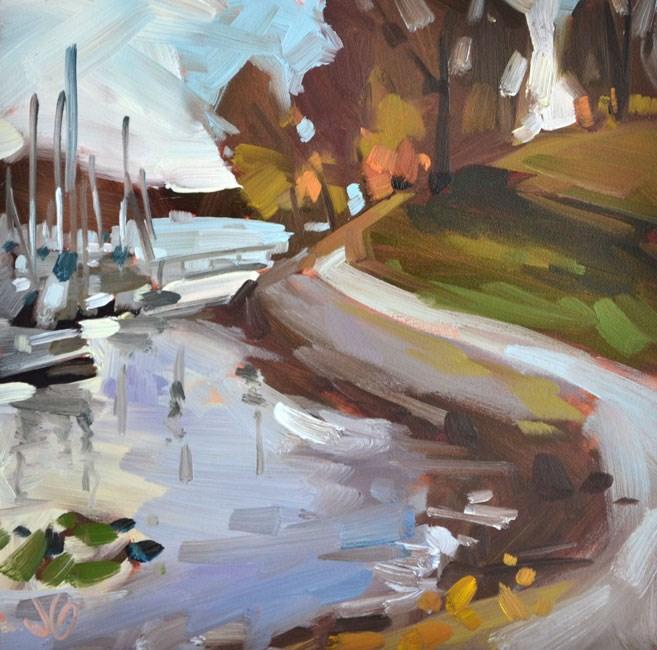 """Along the Shore"" original fine art by Jessica Green"