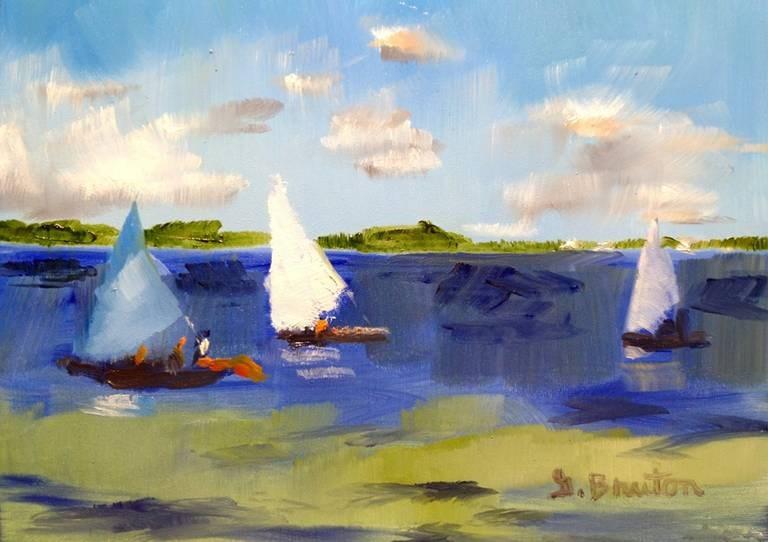 """Sails"" original fine art by Gary Bruton"