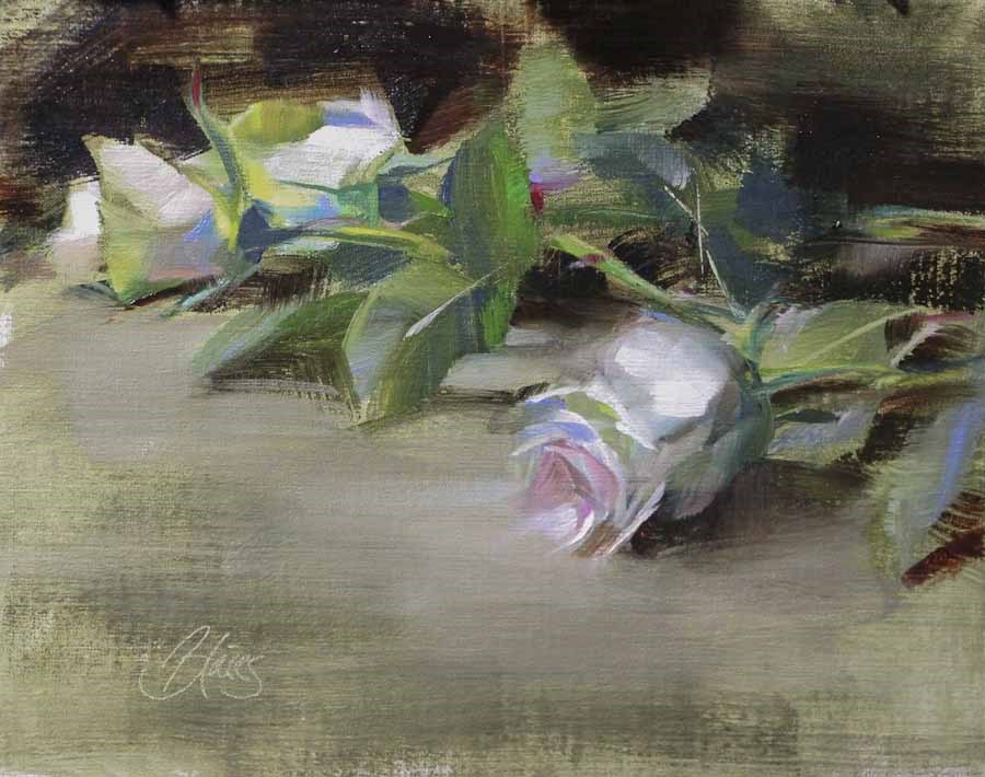 """Three Roses"" original fine art by Pamela Blaies"