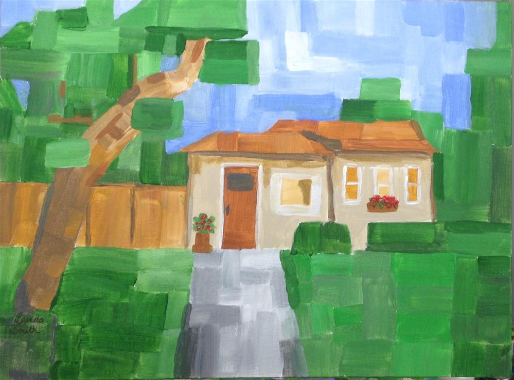 """""""Tropical Home"""" original fine art by Brenda Smith"""