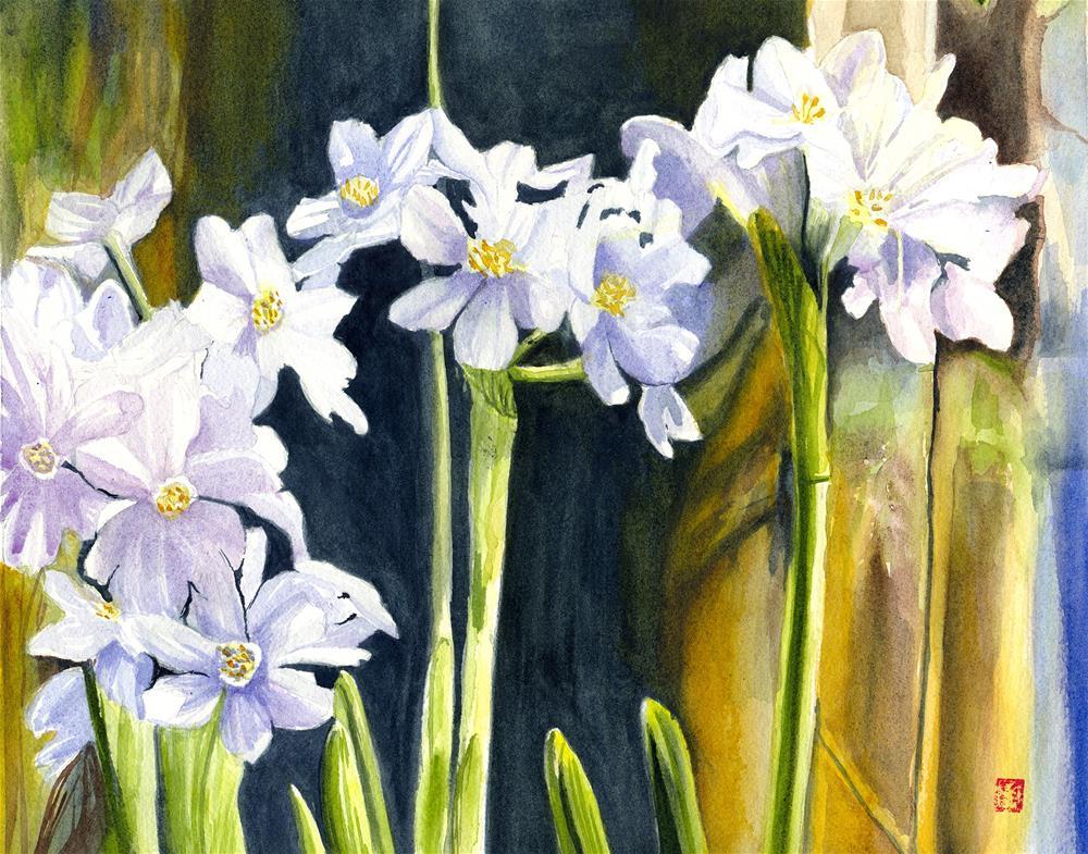 """Paperwhites"" original fine art by Valorie Sams"