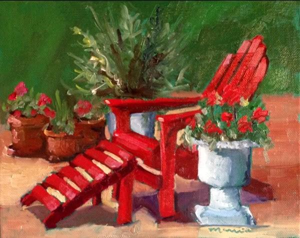 """My Favorite Chair"" original fine art by Marcia Hodges"