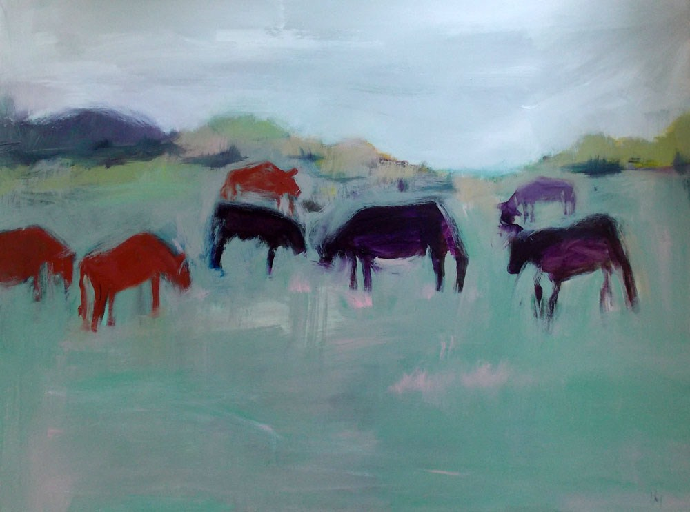 """Graze"" original fine art by Pamela Munger"