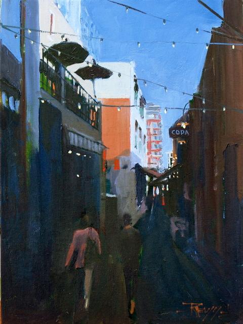 """""""The Copa   Seattle city scenes"""" original fine art by Robin Weiss"""