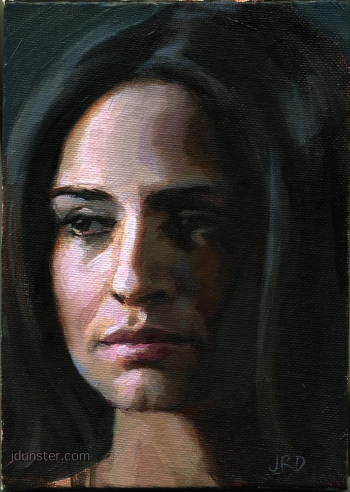 """Sad Paula"" original fine art by J. Dunster"