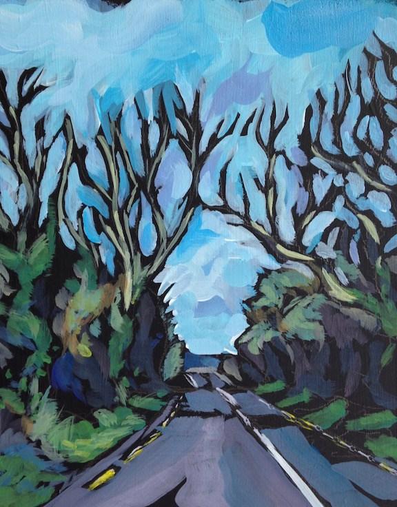 """The Irish Road"" original fine art by Kat Corrigan"