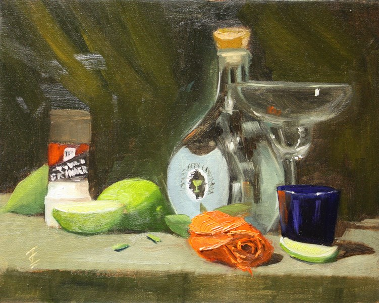 """Margarita Monday"" original fine art by Jane Frederick"