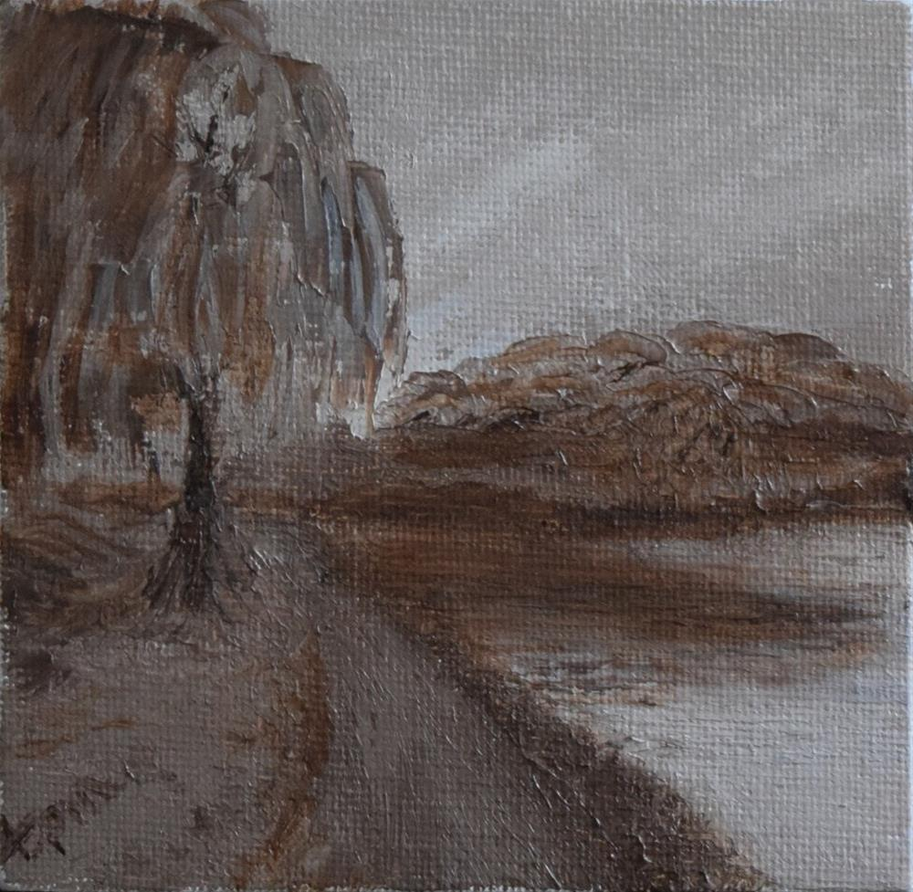 """Weeping Willow Memories"" original fine art by Tisha Mark"