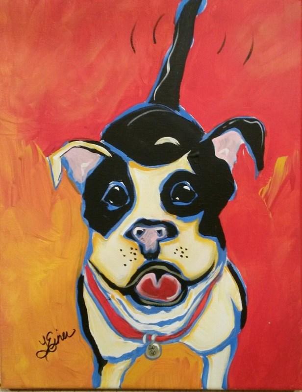 """""""Animals and Art-Day 14"""" original fine art by Terri Einer"""