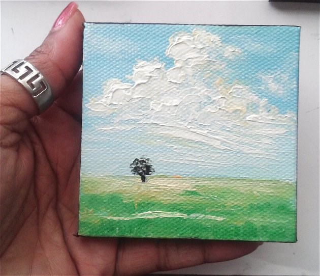 """Lone Little Tree"" original fine art by Camille Morgan"