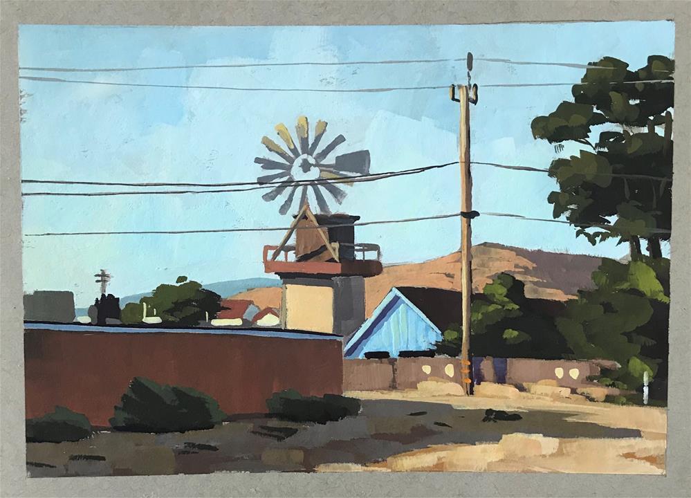 """""""Cayucos Powerlines"""" original fine art by Sharon Schock"""