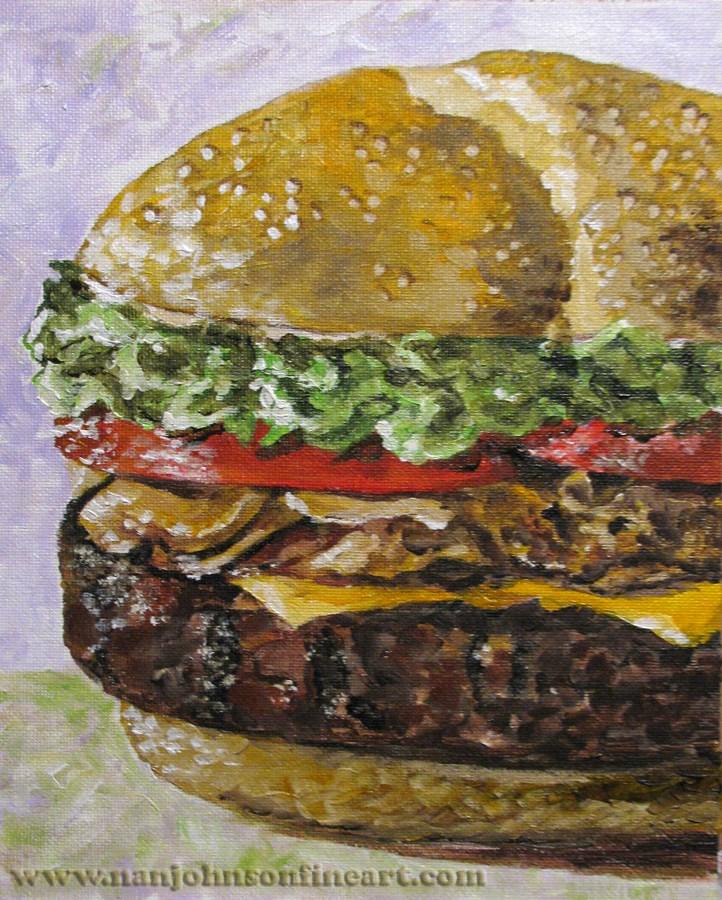 """""""Delicious"""" original fine art by Nan Johnson"""