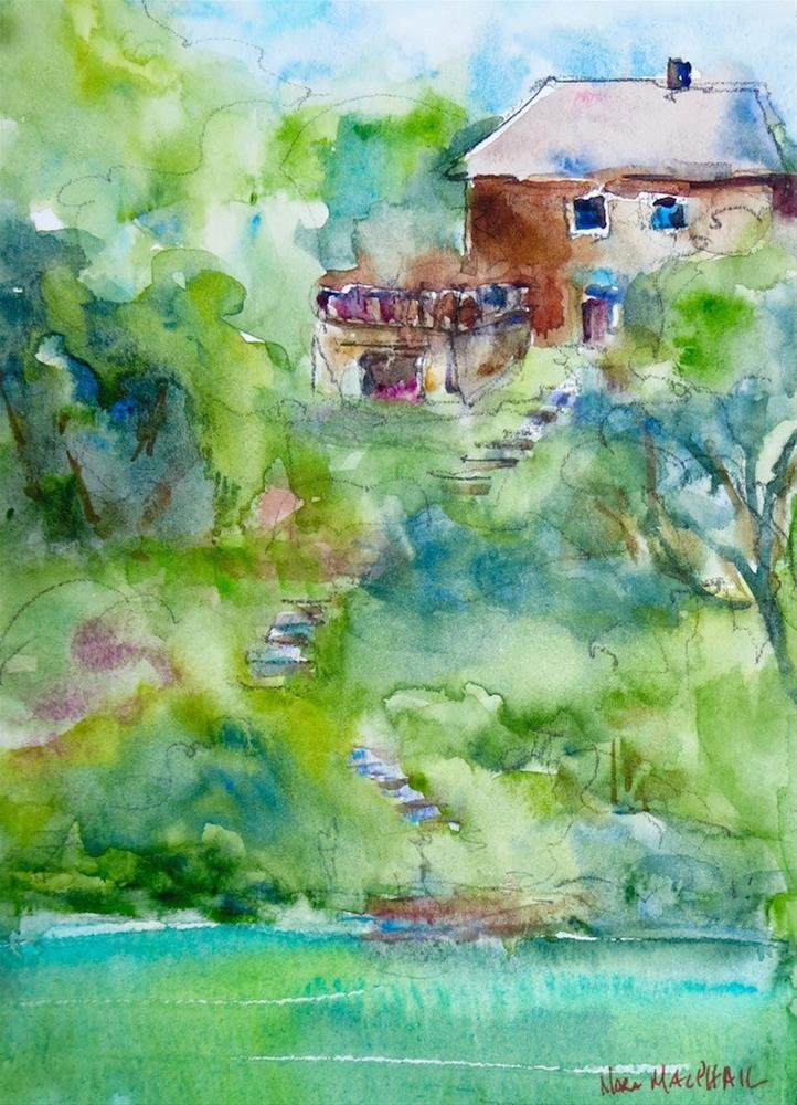 """""""living amongst the trees"""" original fine art by Nora MacPhail"""