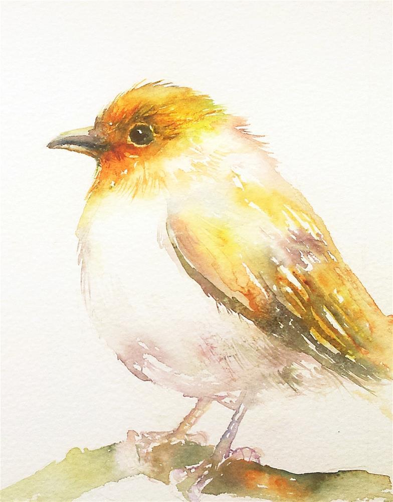 """""""The Yellow Bird"""" original fine art by Arti Chauhan"""