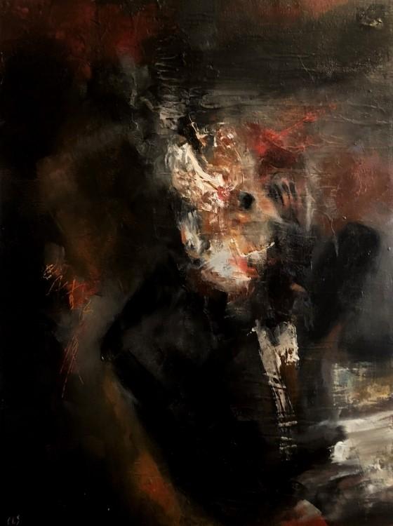 """""""The Groom"""" original fine art by Christine E. S. Code"""