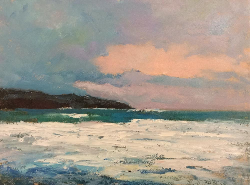 """Seascape Cornwall"" original fine art by John Shave"
