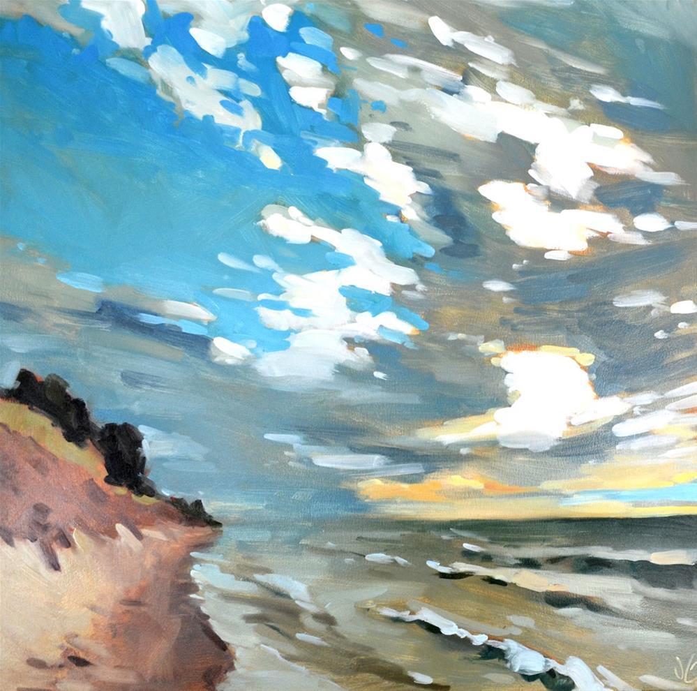 """""""Lake Michigan Shoreline"""" original fine art by Jessica Green"""