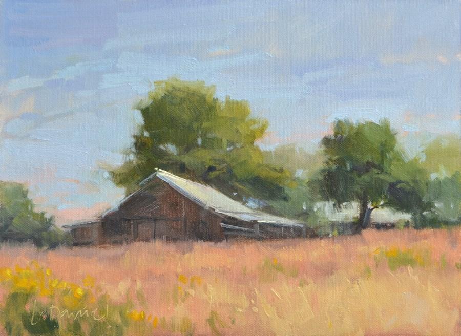 """Stable Grasses"" original fine art by Laurel Daniel"