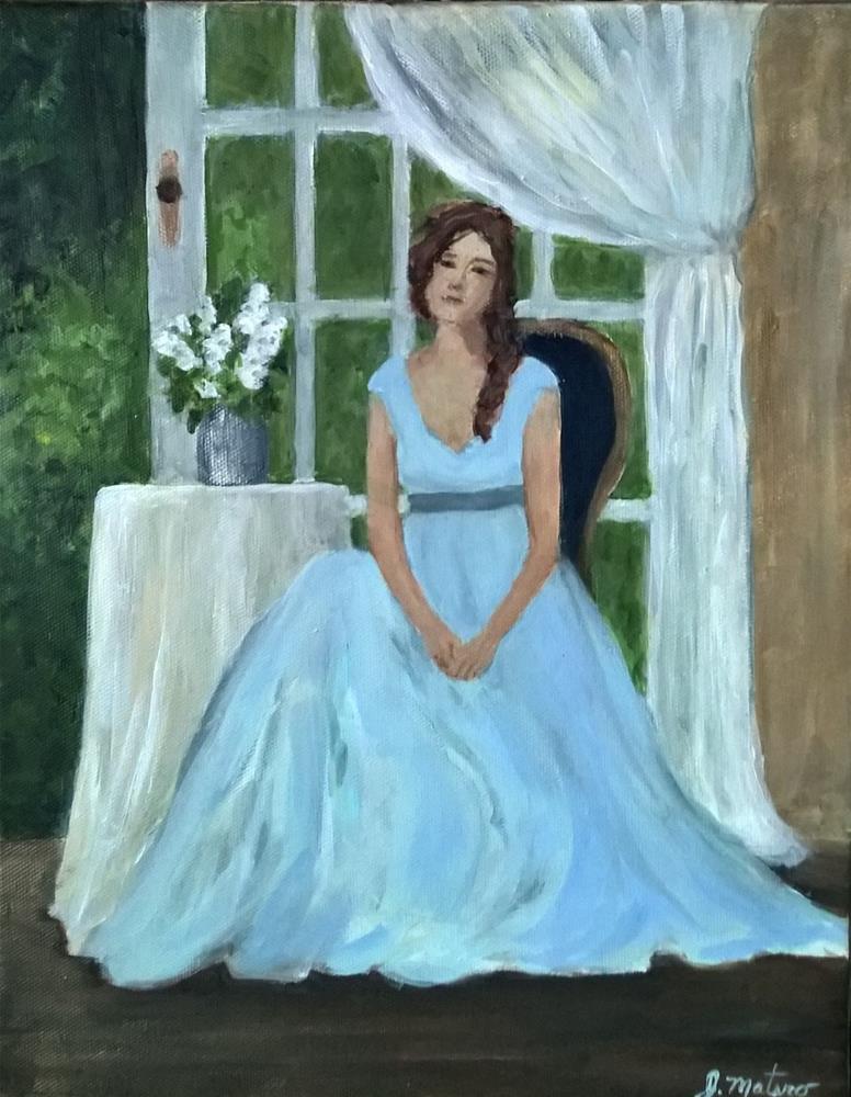"""""""Colette"""" original fine art by Joan Matero"""