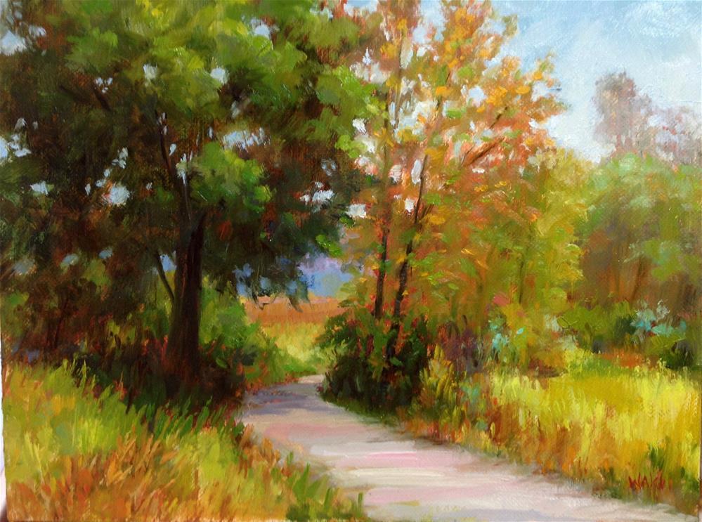"""""""Quiet Path"""" original fine art by Nancy Wahl"""