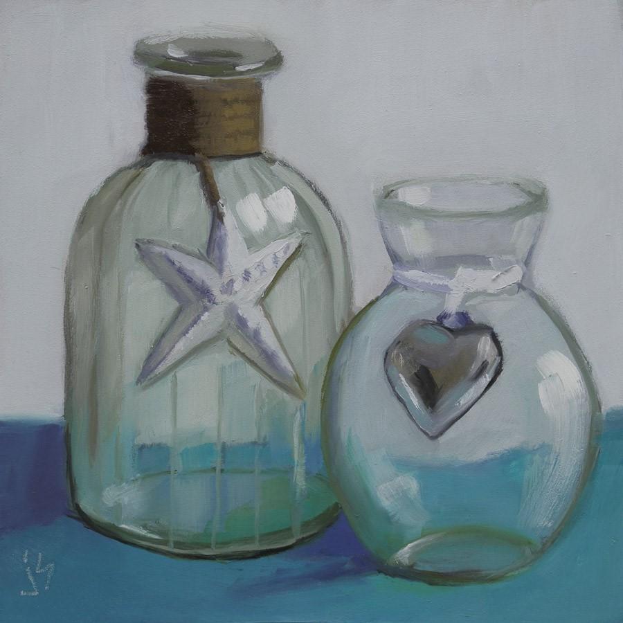 """Beach Glass"" original fine art by Johnna Schelling"