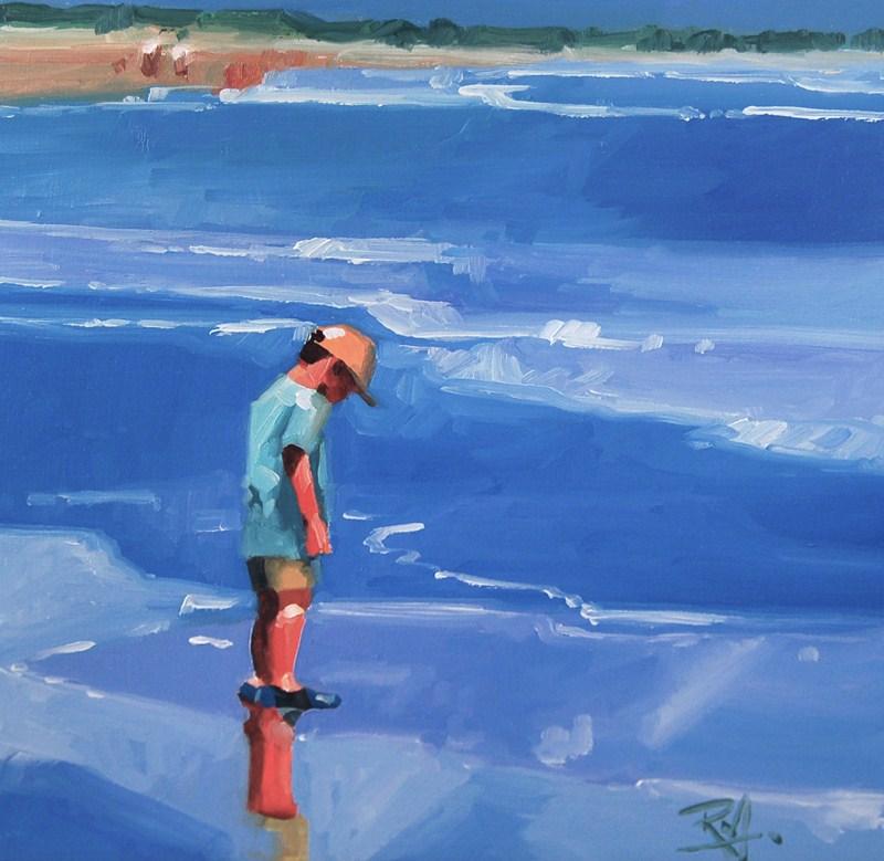 """No 417 Wet Shoes"" original fine art by Robin J Mitchell"