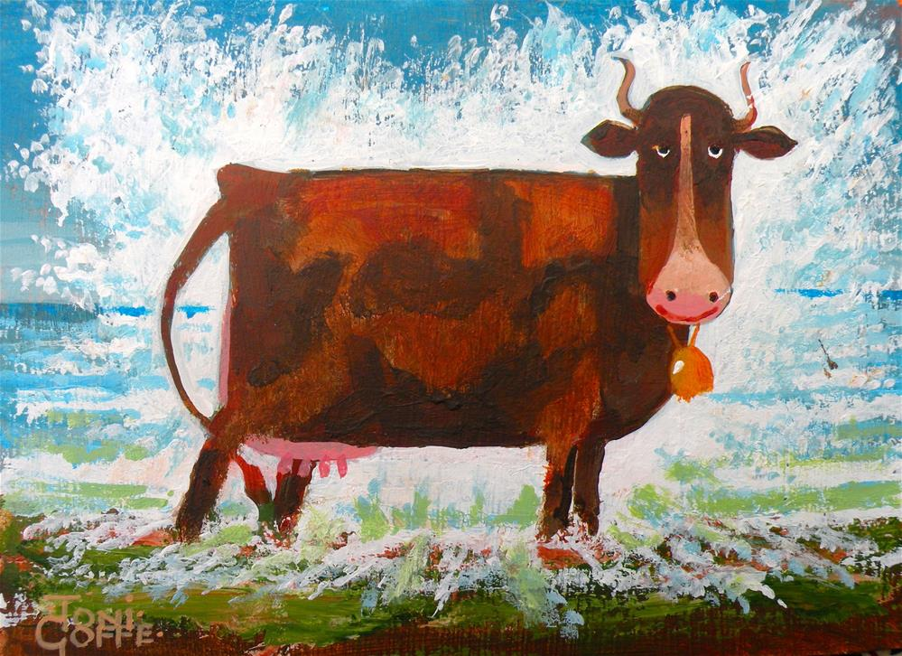 """""""Cow Cooling"""" original fine art by Toni Goffe"""