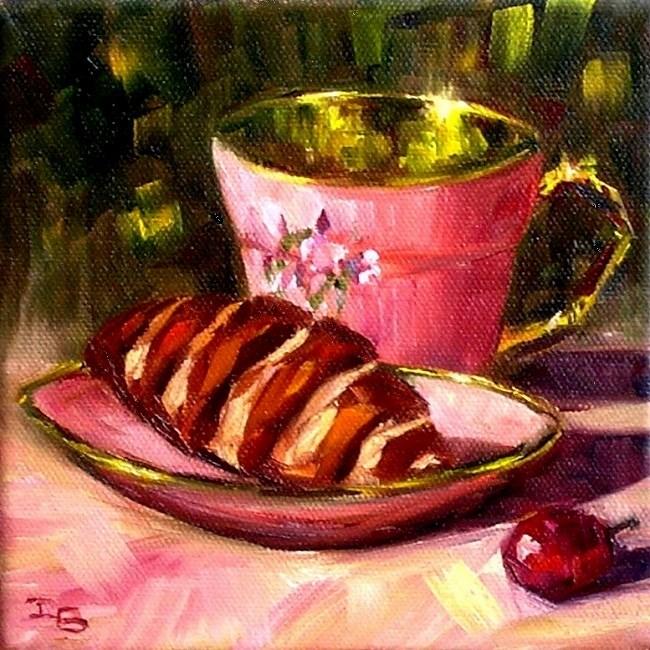 """Your tea is ready!"" original fine art by Irina Beskina"