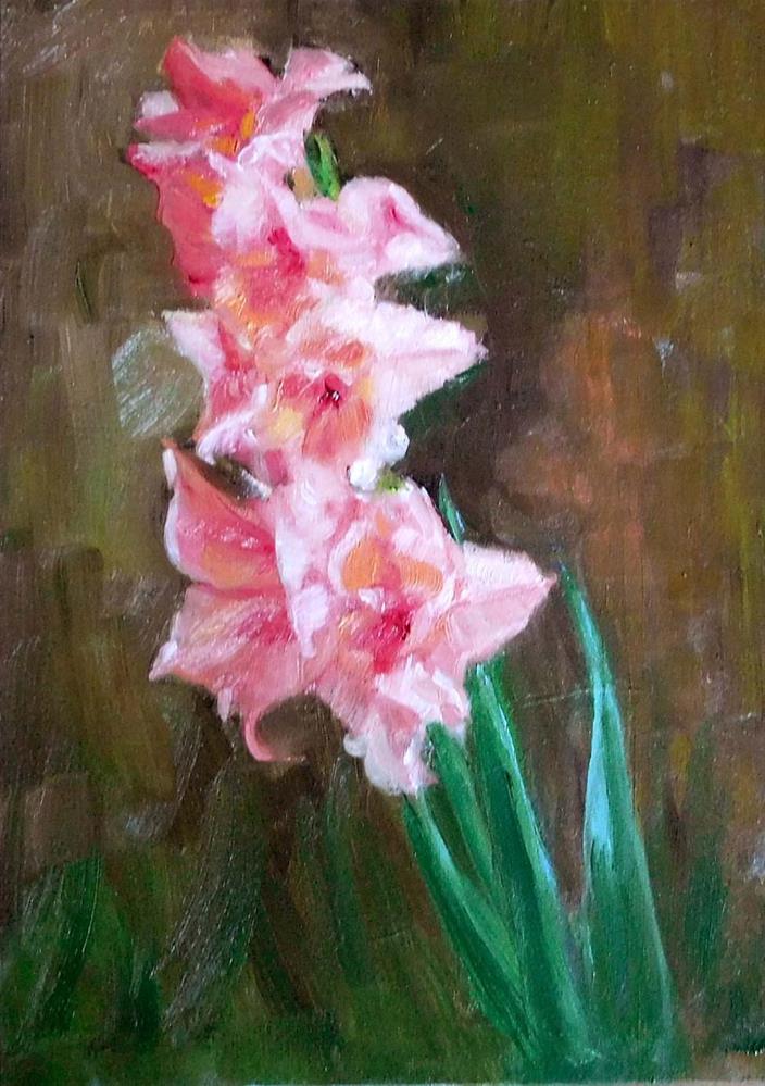 """Gladiolas"" original fine art by Cietha Wilson"