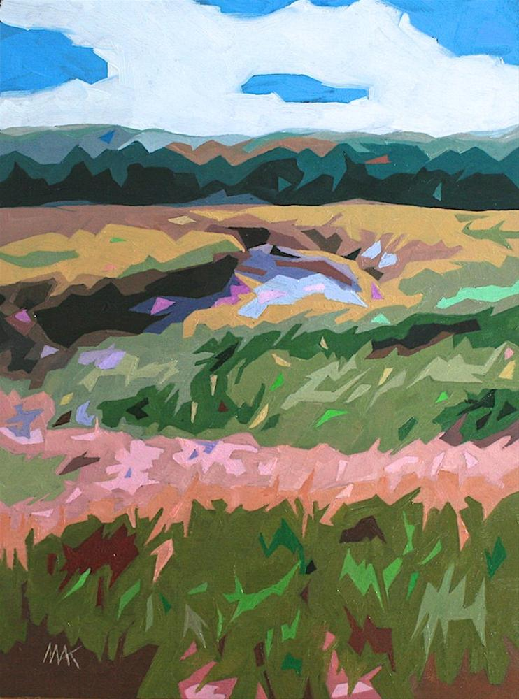 """""""Marsh"""" original fine art by Mary Anne Cary"""