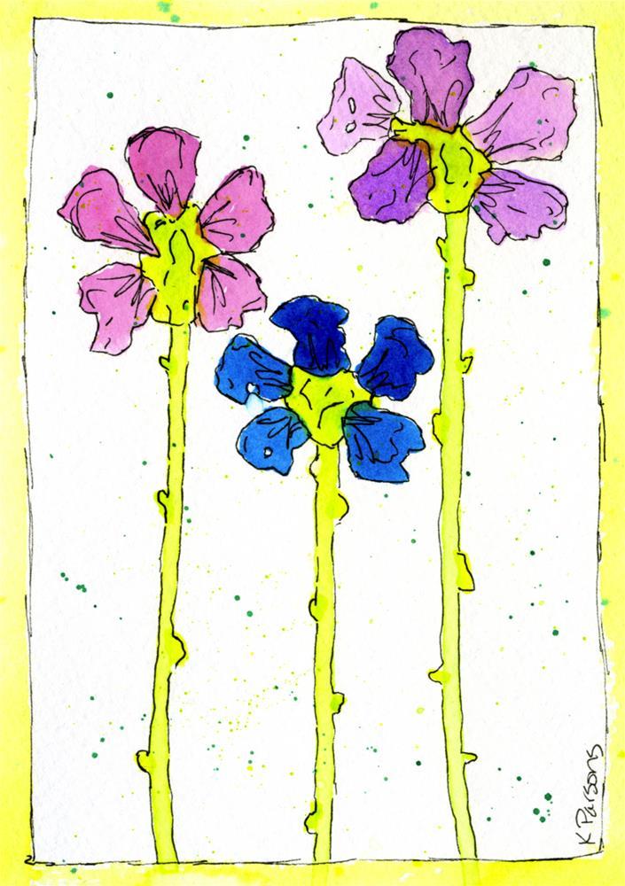 """Dripping Flowers"" original fine art by Kali Parsons"