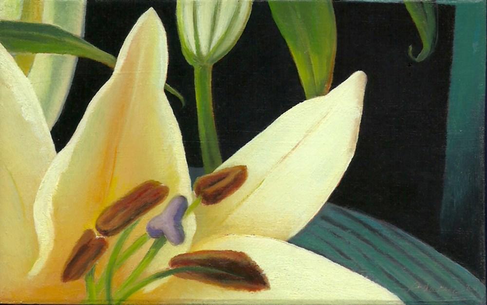 """Sophisticated Lilies"" original fine art by Carol L Adamec"