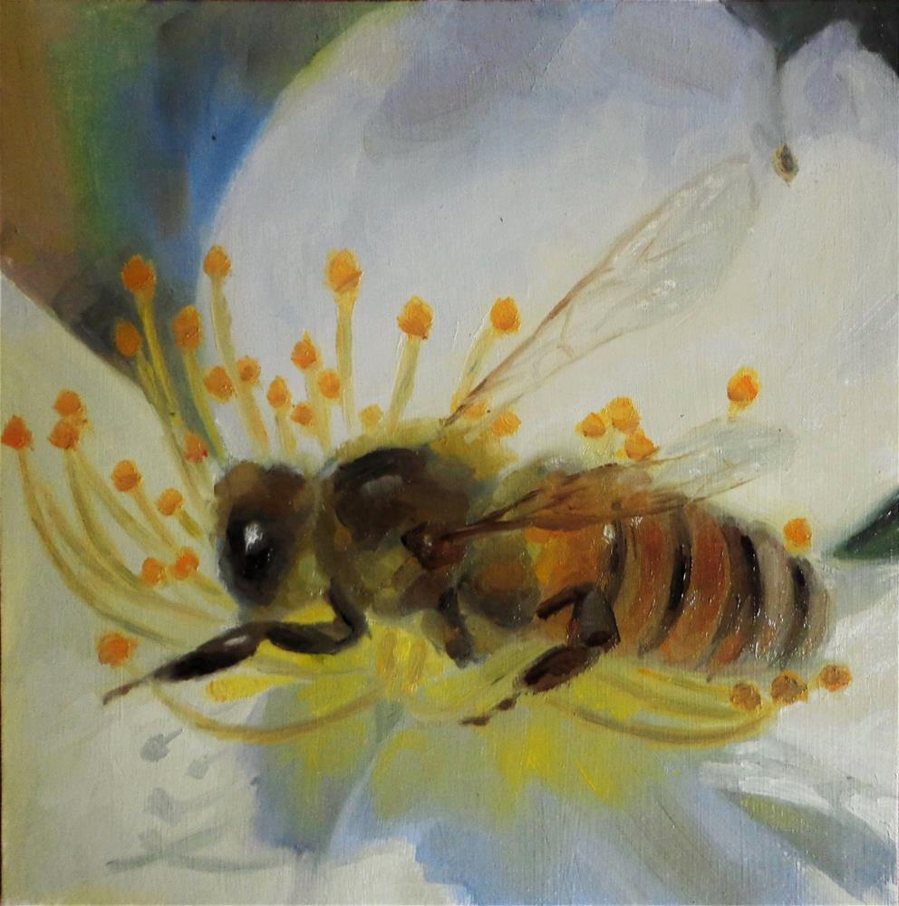 """Busy bee"" original fine art by Maria Z."